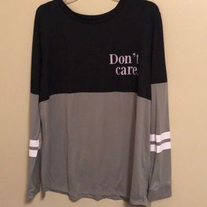 Rue 21 don't care/bored shirt